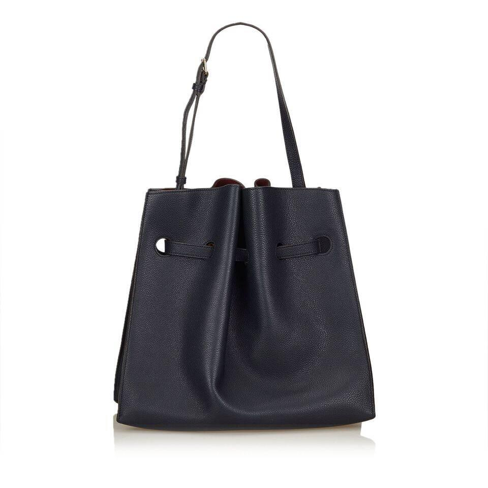 47ab5c0622 ... wholesale navy blue mulberry leather tyndale shoulder bag in good  condition for sale in new york