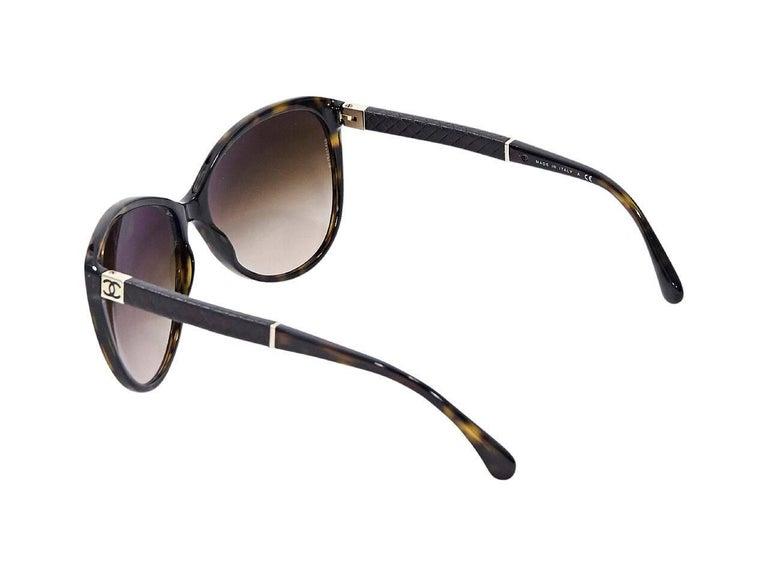 Gray Brown Chanel Tortoiseshell Sunglasses For Sale