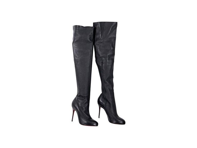 d7bd1e7634b Black Christian Louboutin Over-The-Knee Boots