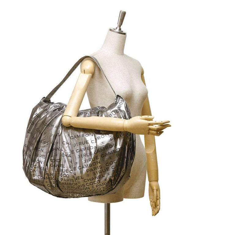 c7ad4c8f1c0f Silver Chanel Unlimited Nylon Shoulder Bag For Sale at 1stdibs