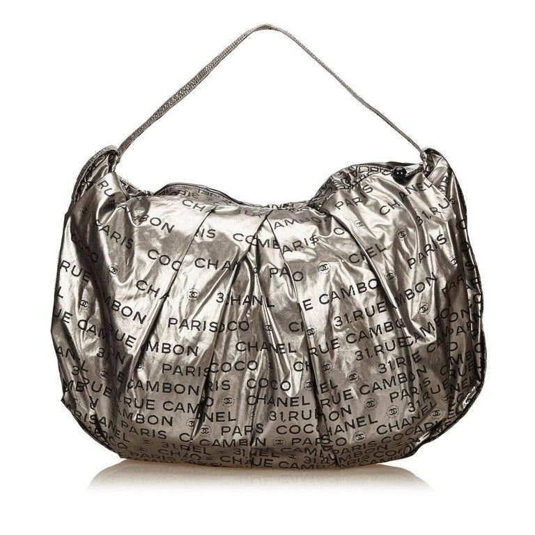 c03bf0d55f96 Silver Chanel Unlimited Nylon Shoulder Bag In Good Condition For Sale In  New York