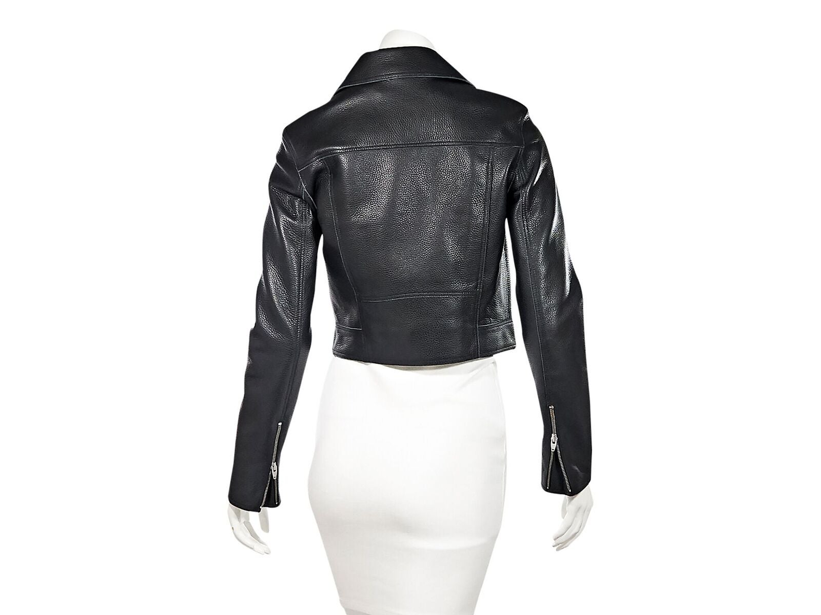 3e6628a7e Black T By Alexander Wang Cropped Leather Jacket