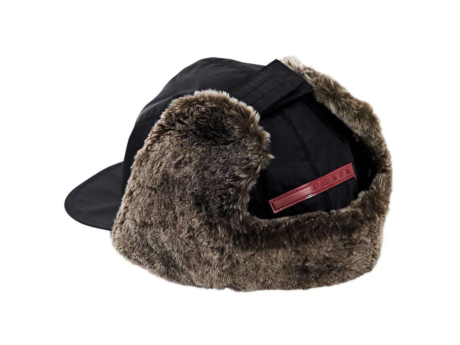 03130a3f2aa Black Prada Sport Trapper Hat For Sale at 1stdibs