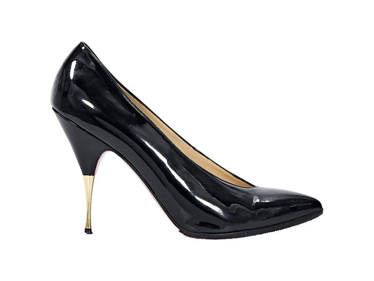 Christian Louboutin Black Patent Leather Pumps For Sale at ...