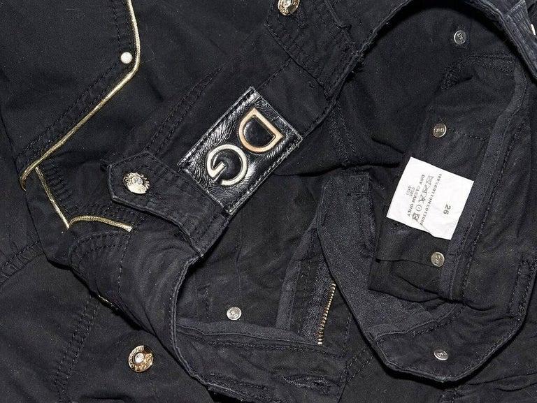 Women's Black Dolce & Gabbana Cropped Harem Pants For Sale