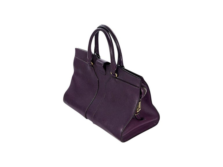 02a6f9c731 Product details  Purple Cabas Chyc tote bag by Yves Saint Laurent. Dual  carry handles