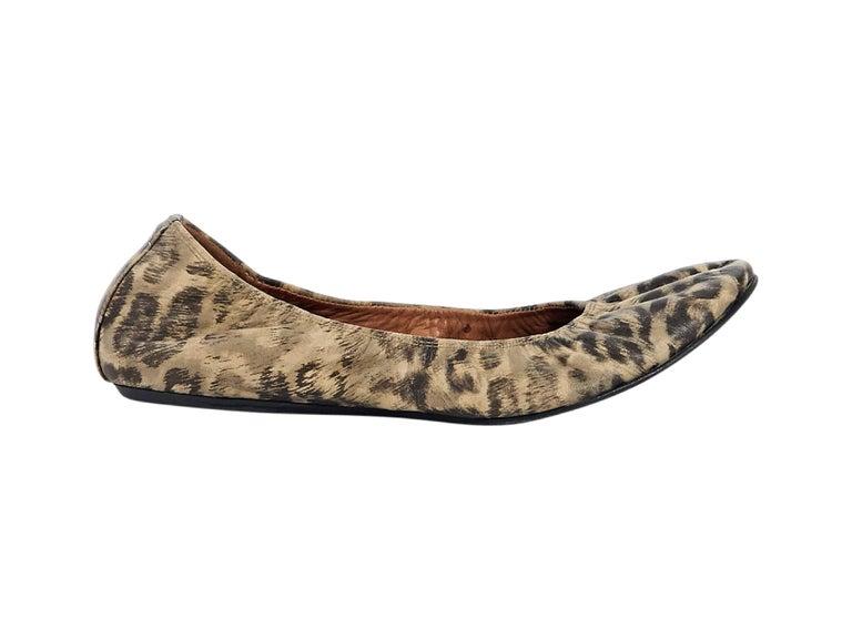Multicolor Lanvin Leopard-Print Ballet Flats