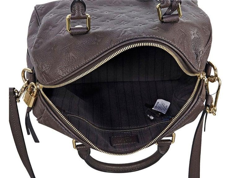 Louis Vuitton Brown Empreinte Speedy 25 Bag For Sale At 1stdibs