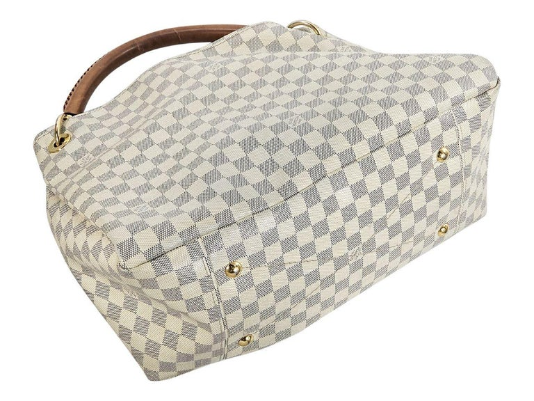 White And Grey Louis Vuitton Damier Azur Artsy Mm Bag At 1stdibs