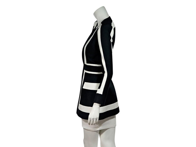 Black & White Balmain Striped Balzer In Excellent Condition For Sale In New York, NY