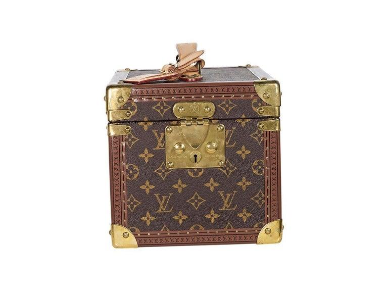 e2df339e4c114 Braune Louis Vuitton Monogramm Train Case Stamm im Angebot bei 1stdibs