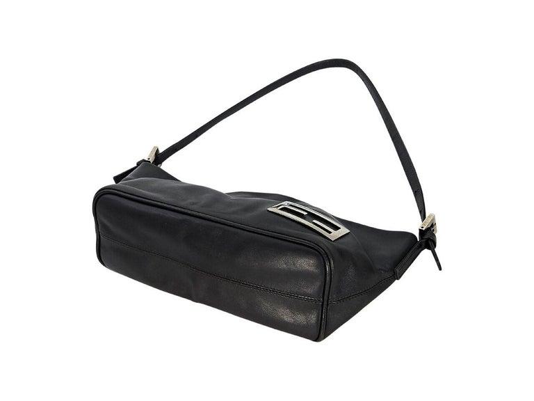 Black Brown Fendi Leather Baguette Shoulder Bag