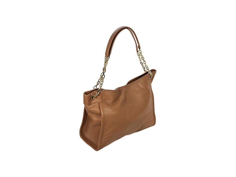 e097b65f30b Brown Tory Burch Leather Shoulder Bag In Good Condition For Sale In New  York