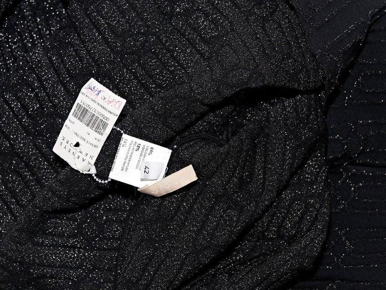 0d06f24f Metallic Black Alaia Stretch Knit Sheath Dress For Sale at 1stdibs