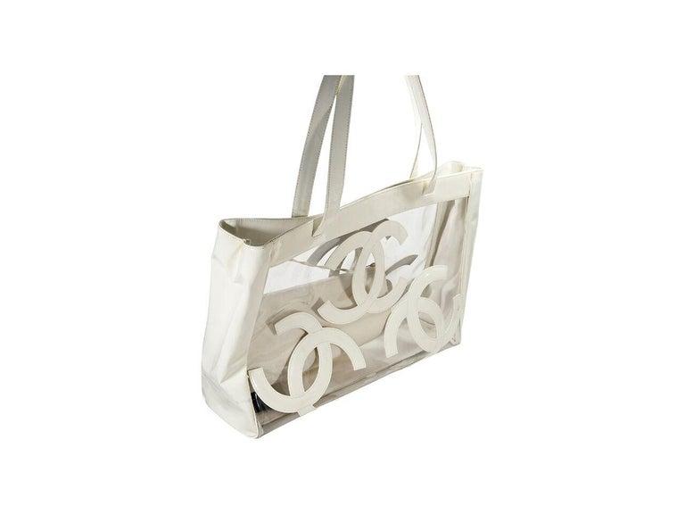79424879e9f White Chanel Logo PVC Tote Bag For Sale at 1stdibs