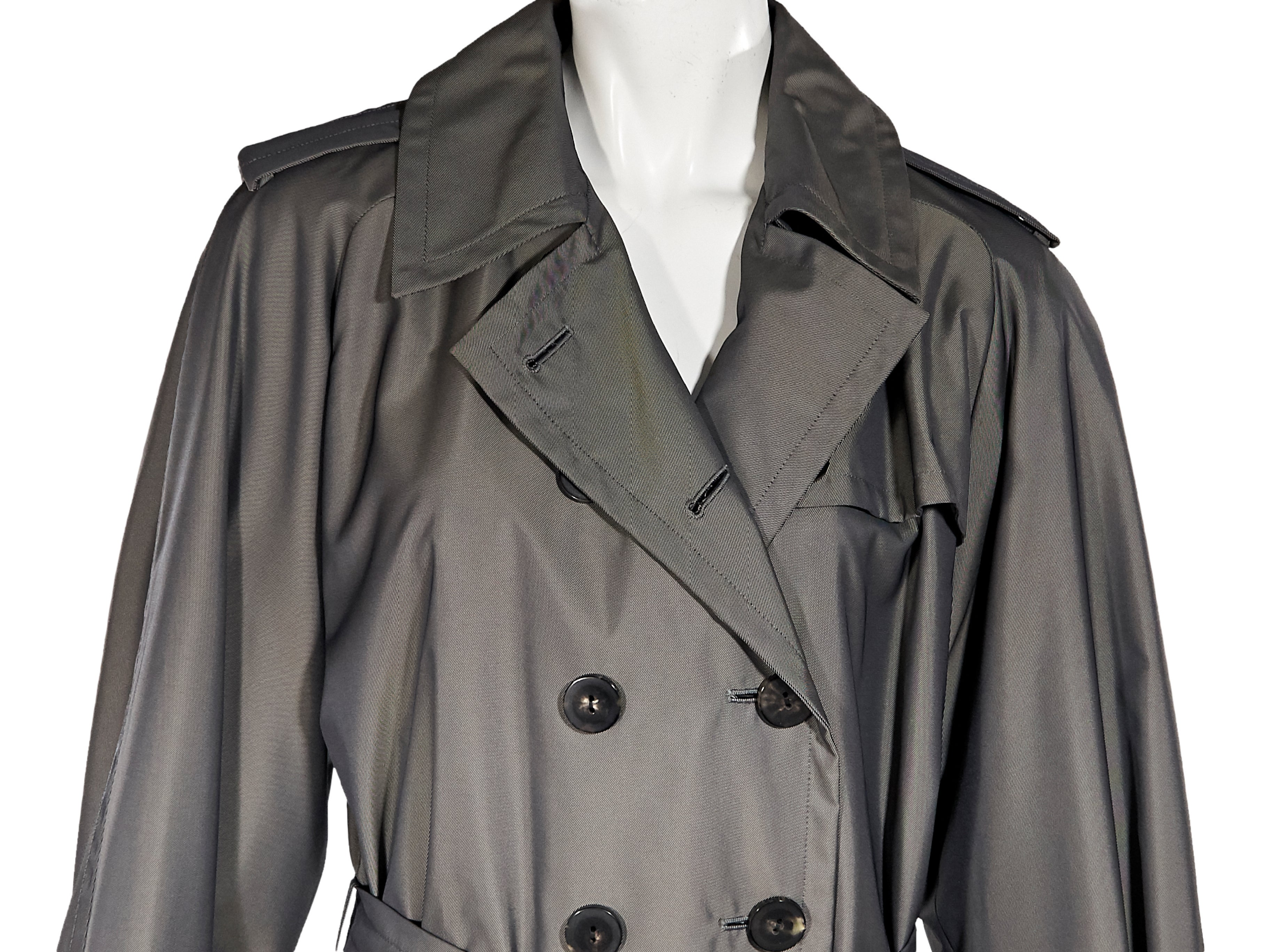 c459a45227a Grey Vintage Yves Saint Laurent Rive Gauche Trench Coat at 1stdibs