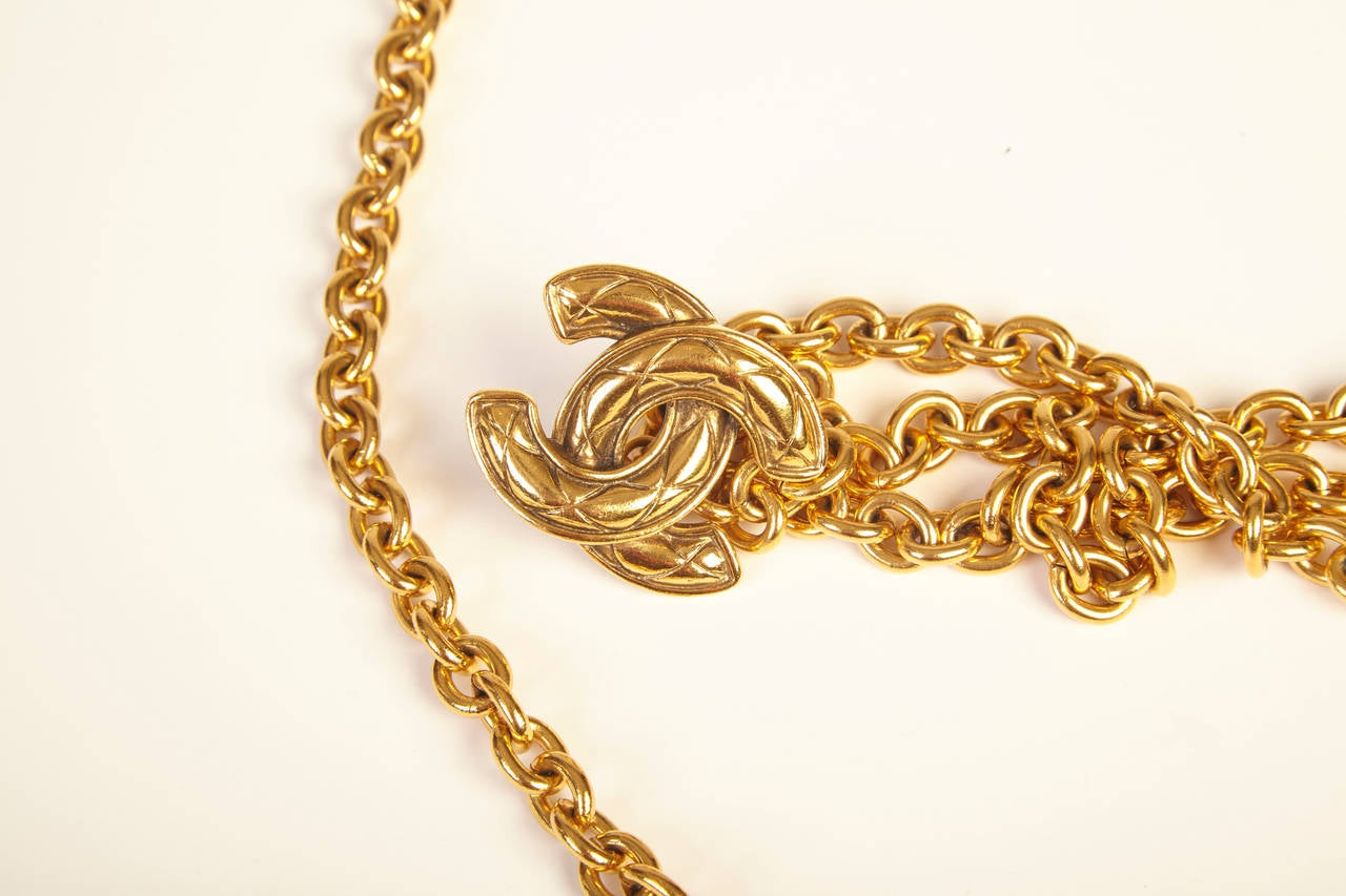 Chanel Gold Chain Belt at 1stdibs