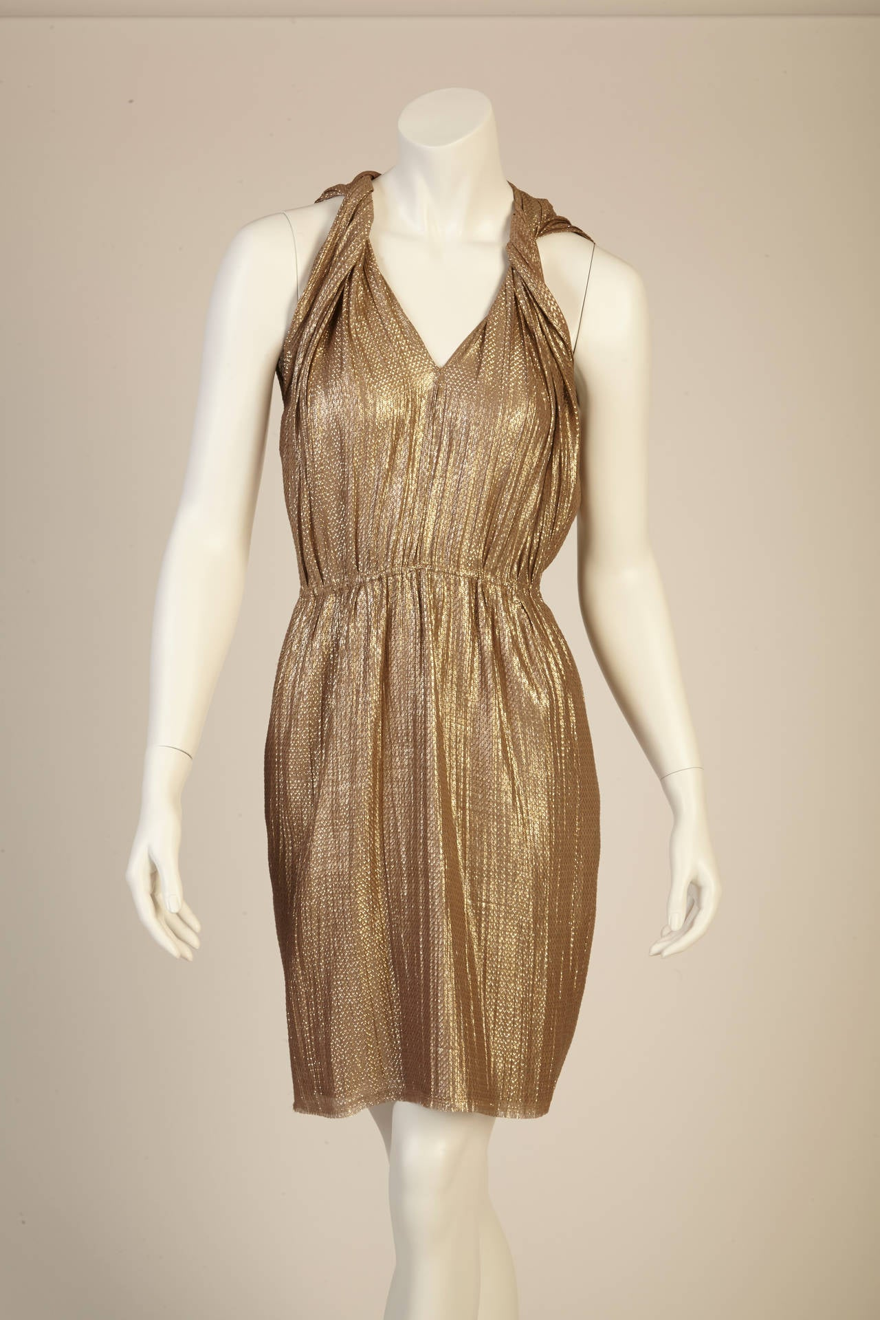 Lanvin Gold Dress at 1stdibs