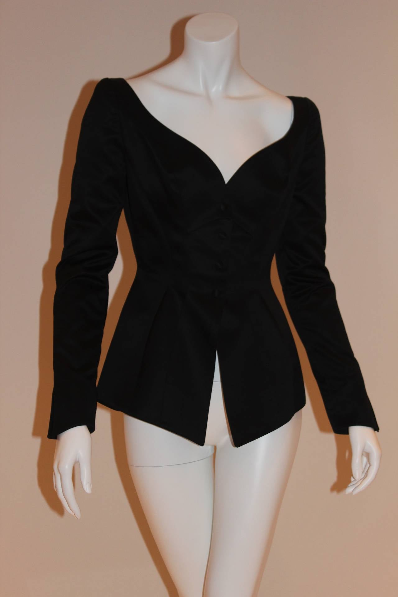 Thierry Mugler Black Blazer In Excellent Condition For Sale In New York, NY
