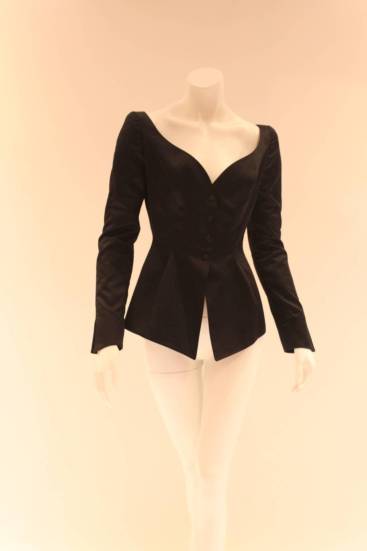 Women's Thierry Mugler Black Blazer For Sale