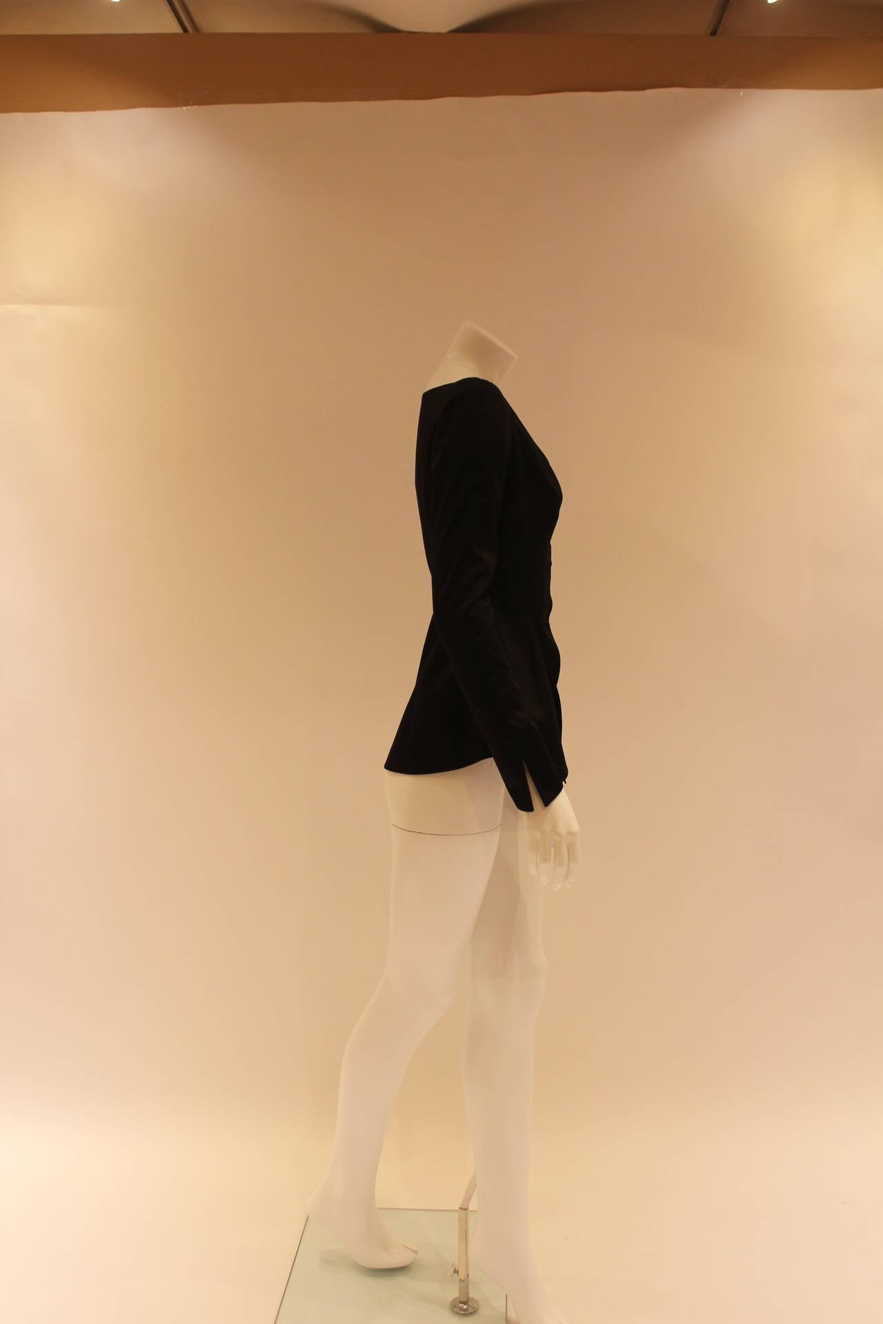 Thierry Mugler Black Blazer For Sale 1