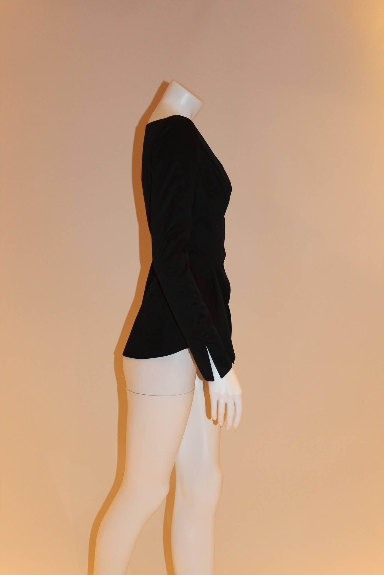 Thierry Mugler Black Blazer For Sale 2
