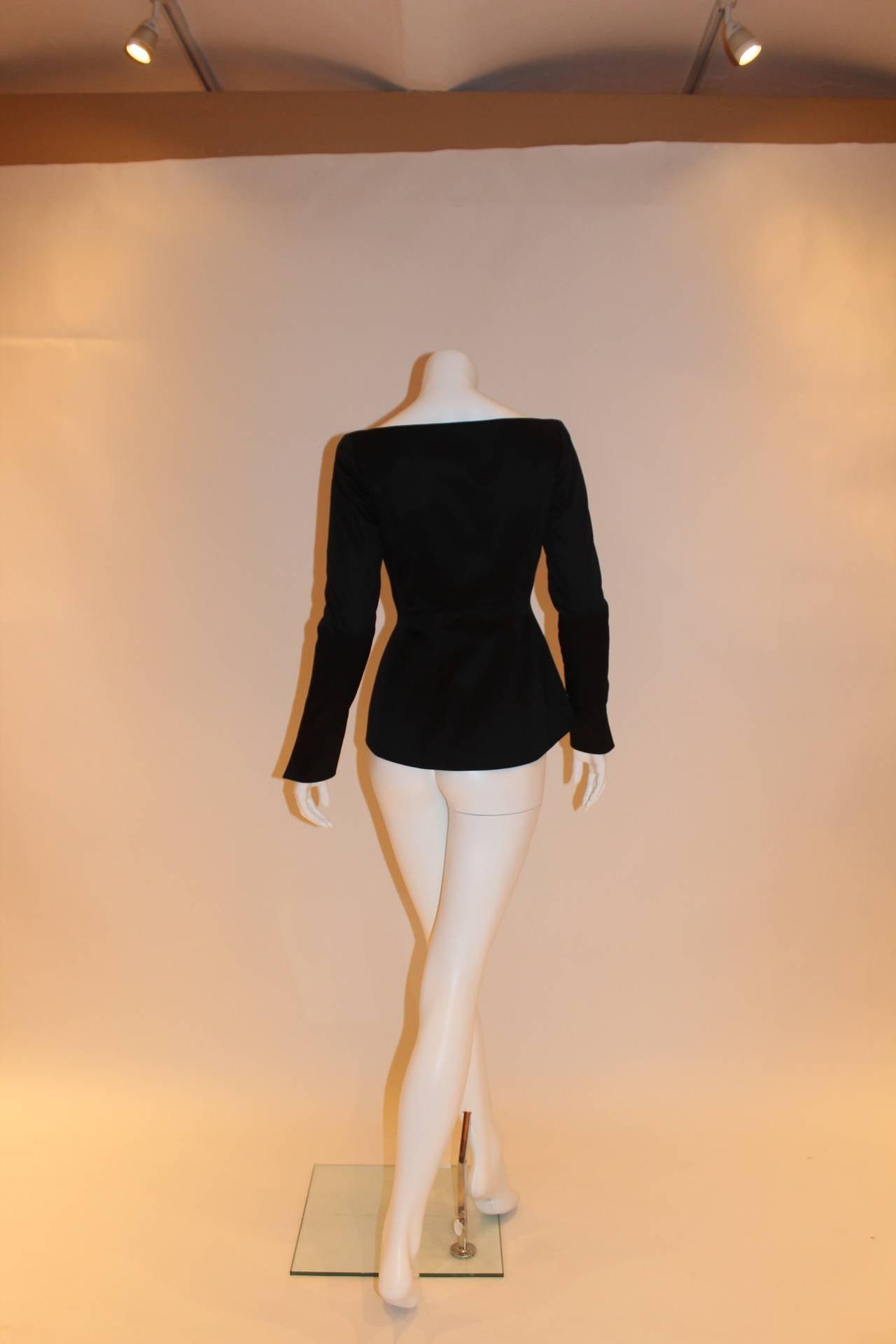 Thierry Mugler Black Blazer For Sale 3