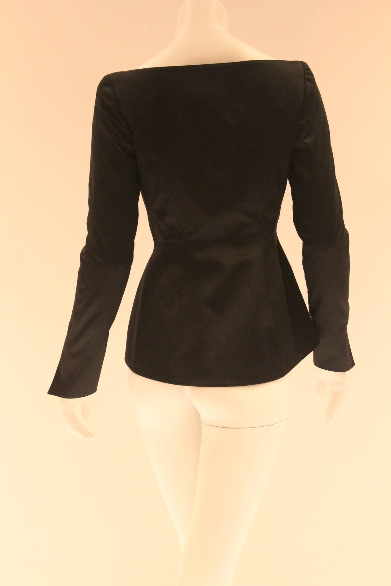 Thierry Mugler Black Blazer For Sale 4