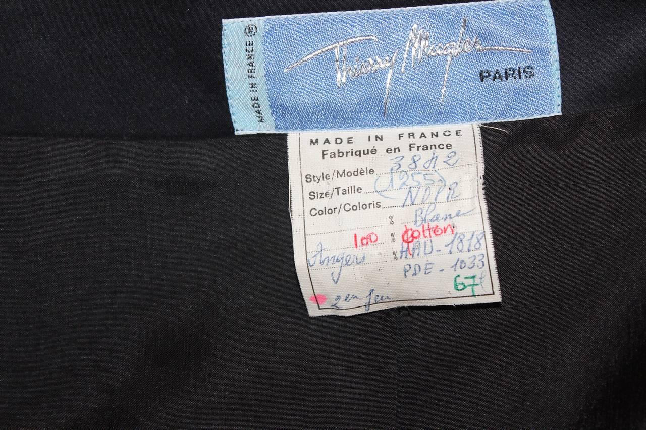Thierry Mugler Black Blazer For Sale 5