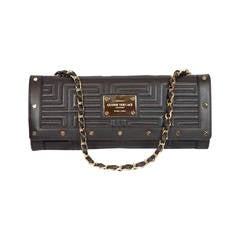 Gianni Versace Black Patent Leather Clutch