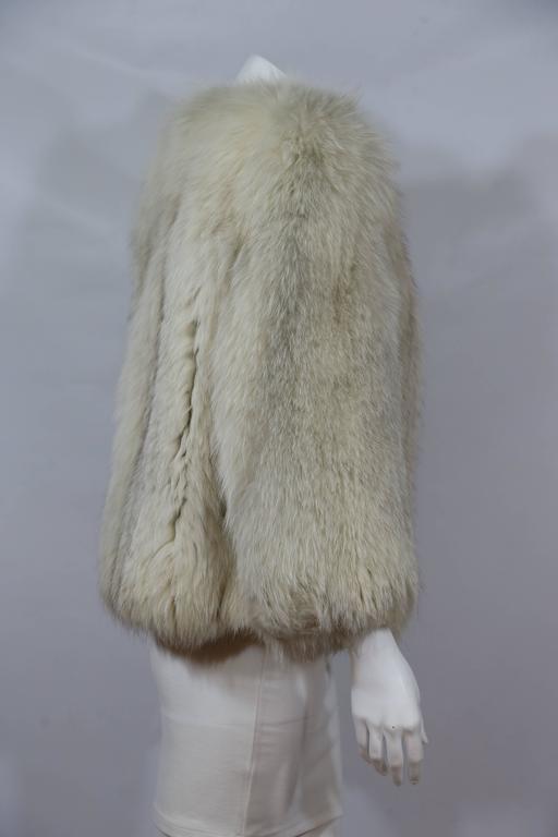 Off White Fox Fur Coat 3