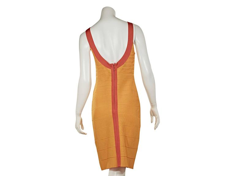 Yellow & Orange Herve Leger Bandage Dress 2