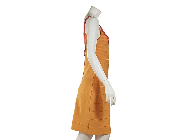 Yellow & Orange Herve Leger Bandage Dress 3