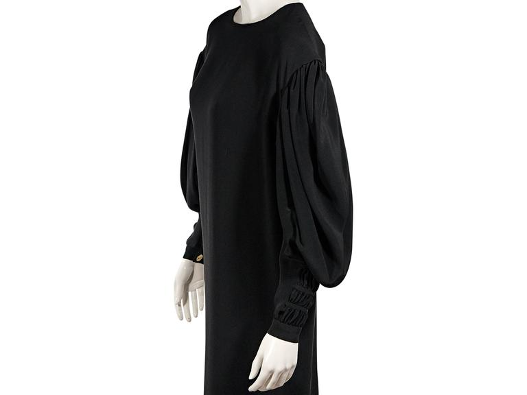 Women's Black Vintage Chanel Long-Sleeve Dress For Sale