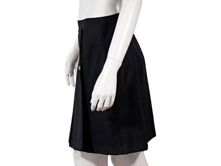 Women's Black Vintage Chanel Pleated Sailor Shirt For Sale