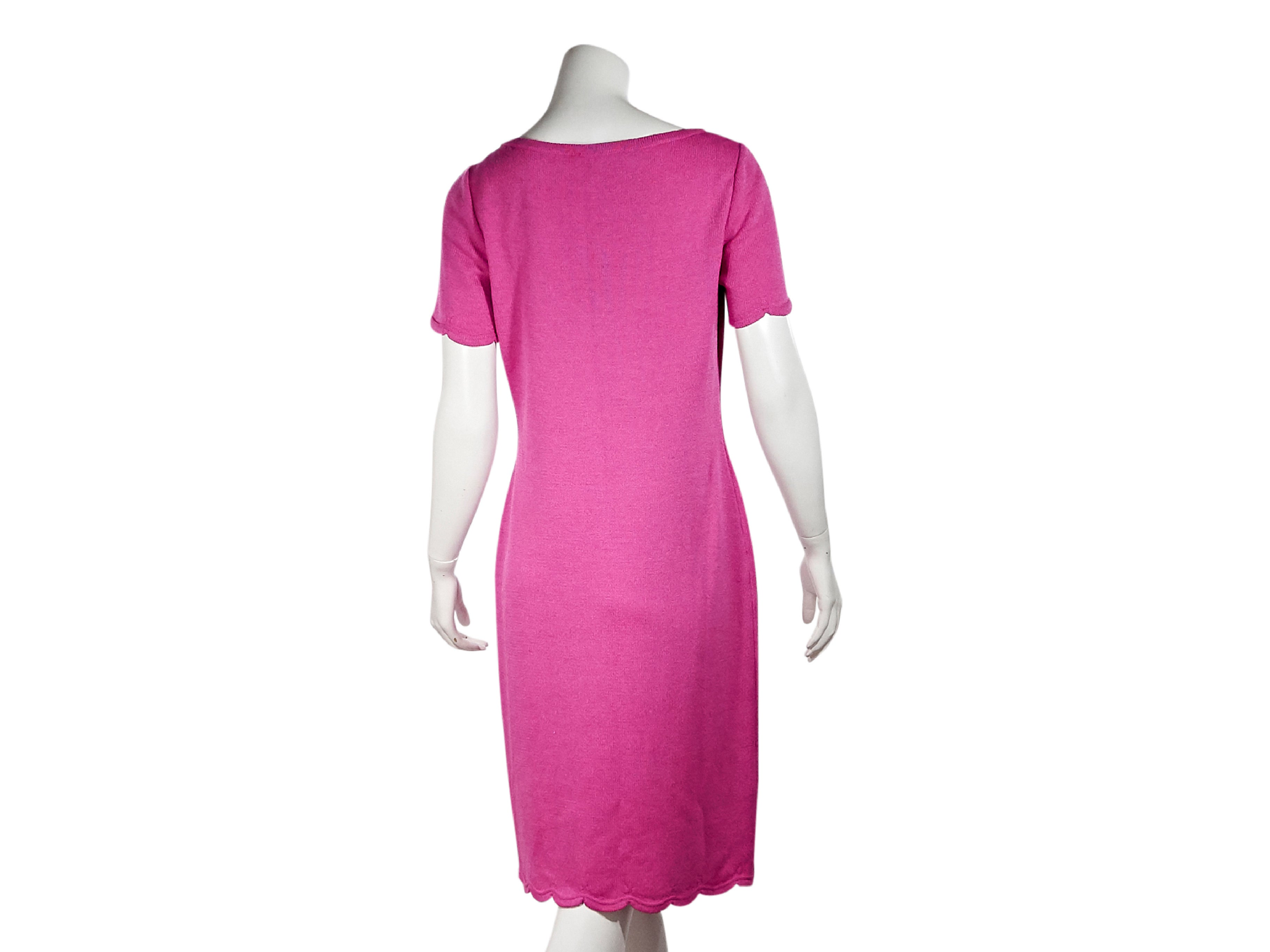 Pink St John Knit T Shirt Dress For Sale At 1stdibs