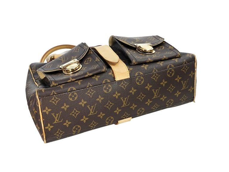 Black Louis Vuitton Brown Monogram Manhattan GM Bag For Sale