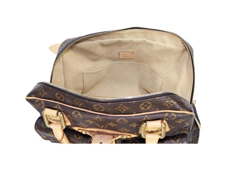 Louis Vuitton Brown Monogram Manhattan GM Bag For Sale 1