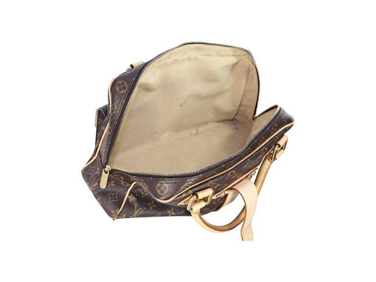 Louis Vuitton Brown Monogram Manhattan GM Bag For Sale 2