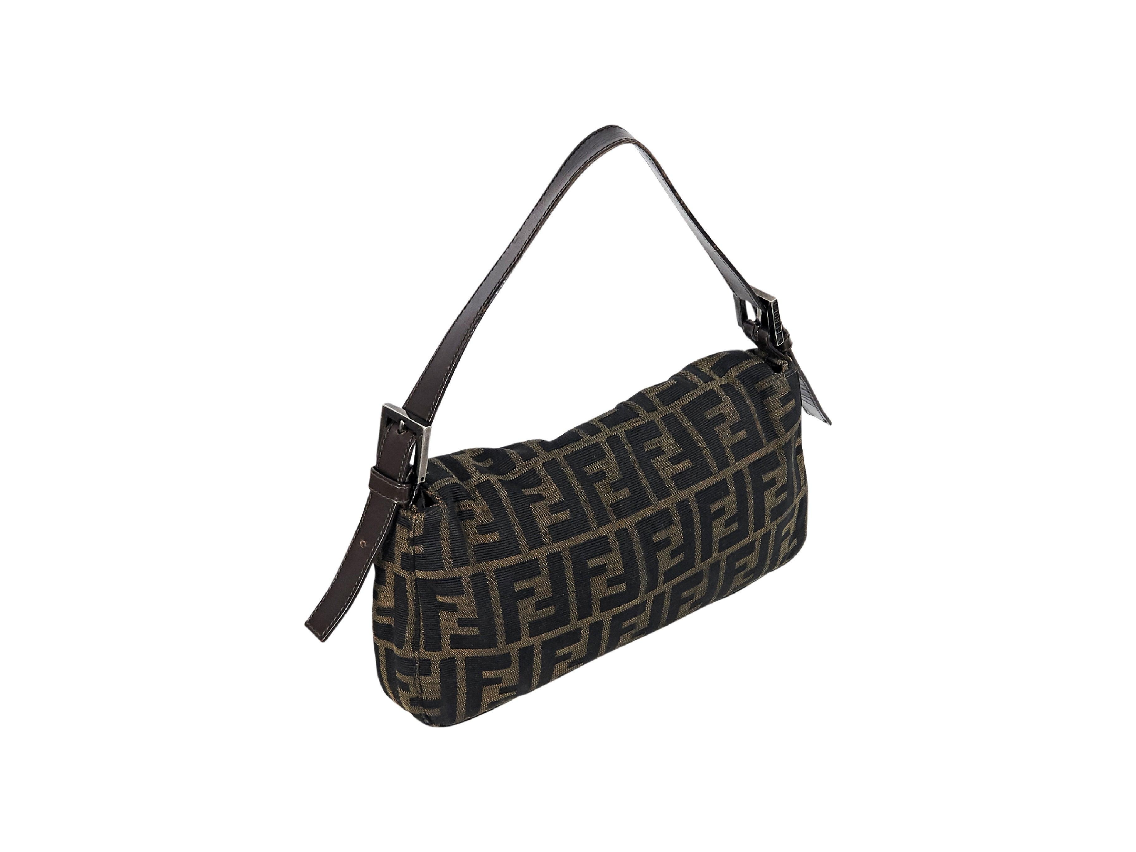 bb0dd40e038b Brown Fendi Monogram Zucca Shoulder Bag at 1stdibs