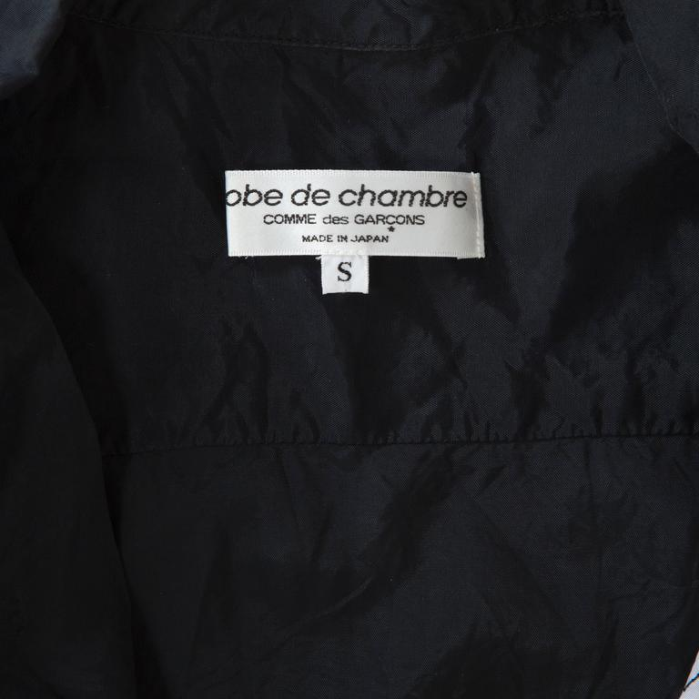 Black Comme des Garcons Robe de Chambre Flower Top For Sale