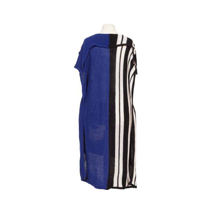 Black Kansai Yamamoto Kabuki Knit Dress 1980s  For Sale