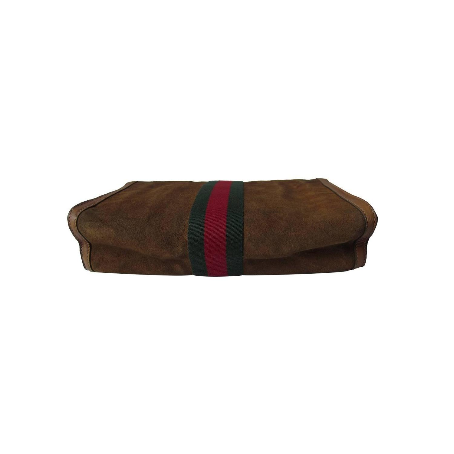Gucci Classic Suede Clutch Bag 60s For Sale at 1stdibs