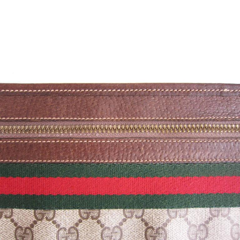 Gray Gucci Monogram Logo Bag Clutch Suitable Laptop Case 1970s For Sale