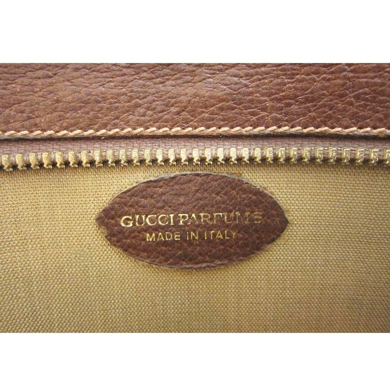Gucci Monogram Logo Bag Clutch Suitable Laptop Case 1970s For Sale 1