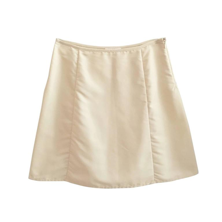 Helmut Lang Light Beige Skirt 90s  For Sale