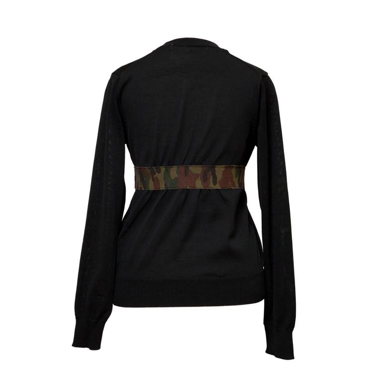 Comme des Garcons black top with camouflage tape detail from AD 2000.