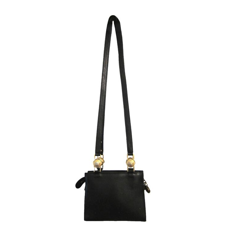 Gianni Versace Couture Black Gold Medusa Chain Mini bag For Sale at ... b084f7bf7ccad