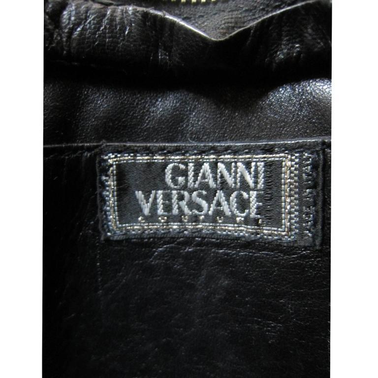 Gianni Versace Couture Black Gold Medusa Chain Mini bag  6