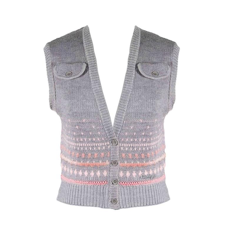 Courreges Mohair Vest Baby Pink Detail 1960s